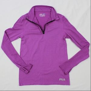 FILA Sport Running Top Womens M 1/4 Zip Fitted